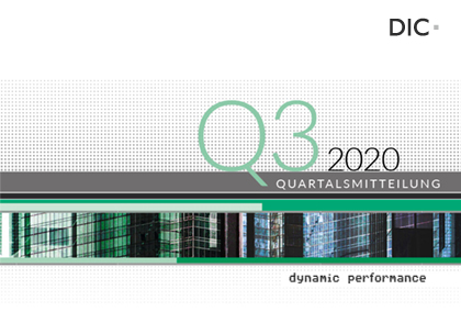 DIC Q3 2020 Quartalsmitteilung